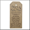 Dogs House Rules Wall Plaque