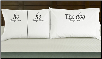 He/He & The Dog Sleeps Here Pillowcases for Dog Lovers (SKU: DB-11203W)