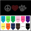 Rhinestone Peace Love Paw Dog T-Shirt, Bandana, or Hoodie