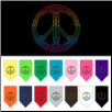 Rhinestone Rainbow Peace Sign Dog T-Shirt, Bandana, or Hoodie