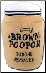 Brown Poopon Debone Mustard - Poop Squeaks Dog Chew Toys
