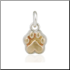 Mini Speak to the Paw Pendant - Sterling Silver Pet Lover Jewelry