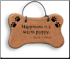 Happiness is a Warm Puppy Ceramic Dogbone Ornament for Dog Lover