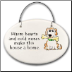 Warm Hearts and Cold Noses Ceramic Disk Ornament for Dog Lover (SKU: AC-2158G)