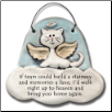 Cat in Heaven - If Tears Could Build a Stairway Ceramic Ornament for Cat Lover (SKU: AC-2301A)