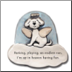Barking, Playing an Endless Run Ceramic Magnet for Dog Lover (SKU: AC-3302B)