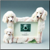 White Poodle Photo Frame (SKU: DBBreed-WhitePoodleFrame)