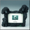 Black Poodle Photo Frame (SKU: DBBreed-BlackPoodleFrame)