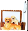 Golden Retriever Pet Note Holder (SKU: DBBreed-GoldenRetrieverNotepads)