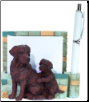 Chocolate Labrador Pet Note Holder (SKU: DBBreed-ChocolateLabradorPetnotes)