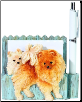 Pomeranian Pet Note Holder (SKU: DBBreed-PomeranianPetnotes)