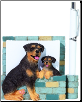 Rottweiler Pet Note Holder (SKU: DBBreed-RottweilerPetnotes)