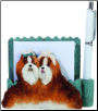 Tan & White Shih Tzu Pet Note Holder (SKU: DBBreed-TanWhiteShihTzuPetnotes)