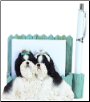 Black & White Shih Tzu Pet Note Holder (SKU: DBBreed-BlackWhiteShihTzuPetnotes)