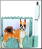 Fawn Boxer Pet Note Holder (SKU: DBBreed-FawnBoxerNotepad)