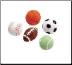 Rubber Sports Balls Dog Toys
