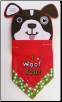 I Woof You Dog Holiday Bandana (SKU: DBC-WoofYou)