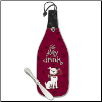 Wine Bottle Cheese Server - Sit, Stay, Drink!