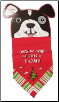 Deck the Halls with Lots of Biscuits Dog Holiday Bandana (SKU: DBC-DeckHallsBandana)