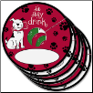 Wine Glass Tags - A Pet Party