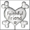 Faithful Friend - Pewter Garden Stake