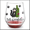 Wine Glass - Stemless - Taste of Purrfection (SKU: Epic-93-364)