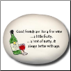 Good Friends are like a Fine Wine Ceramic Mini Rock (SKU: AC-8178A)