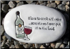 I Love to Cook with Wine Ceramic Garden Rock