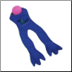 Get Wet Blue Frog Legs Toy by Doggles (SKU: DB-GetWetFrogBlue)