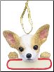 Chihuahua Holiday Personalized Ornament (SKU: DBORN-ChihuaPers)