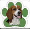Beagle Dog Car Magnet