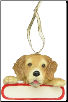 Golden Retriever Holiday Personalized Ornament (SKU: DBORN-GolRetrievPers)