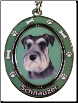 Schnauzer, Uncropped Ears, Dog Key Chain by E&S Imports