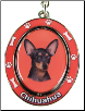 Chihuahua, Black - Dog Key Chain by E&S Imports (SKU: ES-KC11)