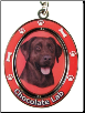 Labrador, Chocolate - Dog Key Chain by E&S Imports