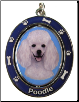 Poodle, White - Dog Key Chain by E&S Imports
