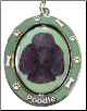 Poodle, Black - Dog Key Chain by E&S Imports