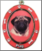 Pug, Fawn - Dog Key Chain by E&S Imports