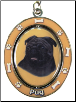 Pug, Black - Dog Key Chain by E&S Imports (SKU: ES-KC32)