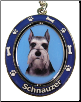 Schnauzer, Cropped Ears, Dog Key Chain by E&S Imports (SKU: ES-KC34)