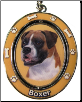 Boxer, Uncropped Ears, Dog Key Chain by E&S Imports (SKU: ES-KC6)