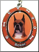 Boxer, Cropped Ears, Dog Key Chain by E&S Imports