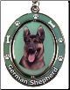 German Shepherd Dog Key Chain by E&S Imports (SKU: ES-KC75)