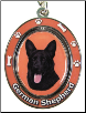 German Shepherd, Black - Dog Key Chain by E&S Imports (SKU: ES-KC75B)