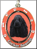 Cocker Spaniel, Black - Dog Key Chain by E&S Imports (SKU: ES-KC78C)