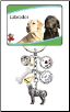 6 Charm Labrador Key Chain by Little Gifts