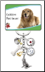 6 Charm Golden Retriever Key Chain by Little Gifts
