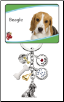 6 Charm Beagle Key Chain by Little Gifts