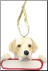 Labrador Holiday Personalized Ornament (SKU: DBORN-LabPers)