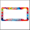License Plate Frame - Dog Lover 'Live Pawsitively' by Kyjen (SKU: DB-LicensePawsitively)